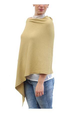Poncho in misto lana giallo senape Aram V Capri | 52 | PONCHO ARAMGIALLO
