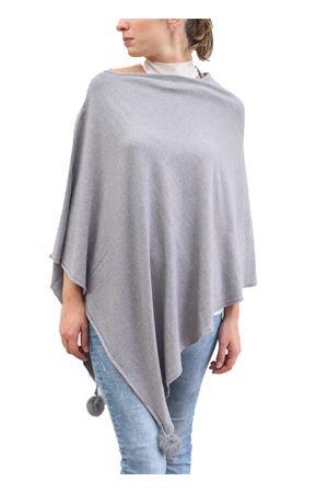 Poncho in misto lana grigio chiaro Aram V Capri | 52 | PONCHO ARAMGRIGIO