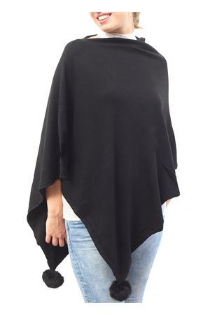 Elegant black poncho Aram Capri | 52 | PONCHO ARAMNERO