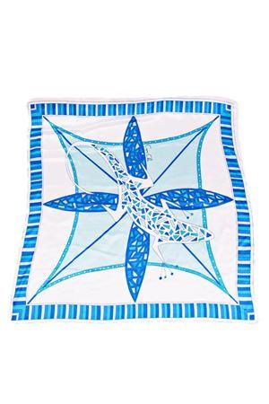 Blue Lizard silk scarf Capri Chic | -709280361 | FOULARD LIZARDAZZURRO