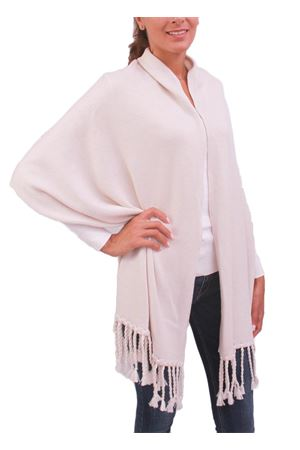 Beige stole with fringes Capri Chic | 61 | STOLAFRBEIGE