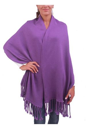Wool stole with fringes  Capri Chic | 61 | STOLAFRVIOLA