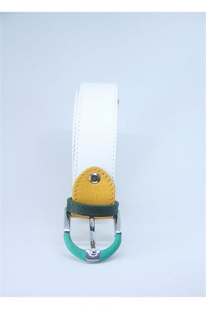 White leather belt Colori Di Capri | 22 | BELT CBIANCO