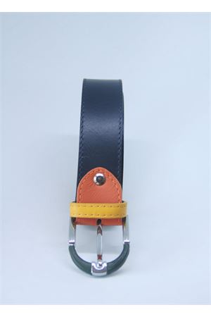 Blue leather belt Colori Di Capri | 22 | BELT CBLU NAVY