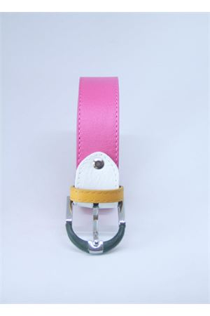 Pink leather belt Colori Di Capri | 22 | BELT CFUXIA