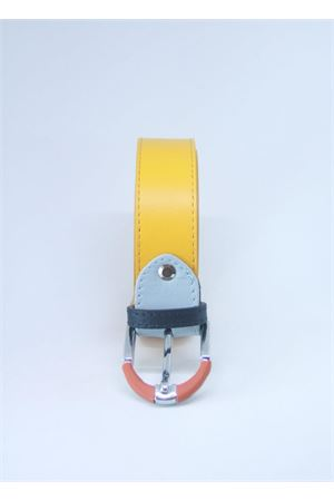 Yellow leather belt Colori Di Capri | 22 | BELT CGIALLO
