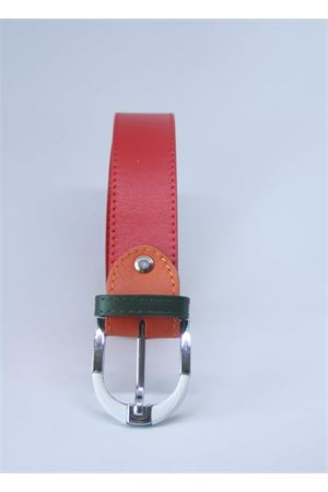 Red leather belt Colori Di Capri | 22 | BELT CROSSO