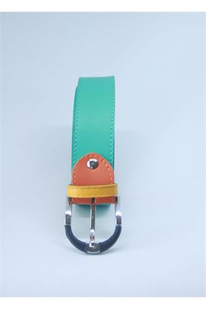 Green leather belt Colori Di Capri | 22 | BELT CVERDE CHIARO