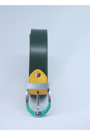 Dark green leather belt Colori Di Capri | 22 | BELT CVERDE SCURO