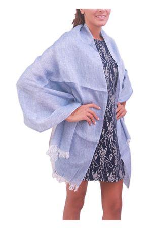 Light blue linen stole Colori Di Capri | 61 | STOLALINOAZZURRO