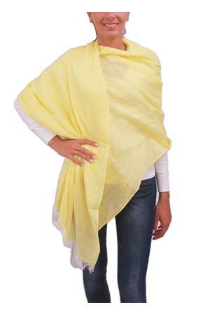 Yellow linen stole Colori Di Capri | 61 | STOLALINOGIALLO