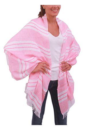 Pink linen stole Colori Di Capri | 61 | STOLALINOROSA/RIGA