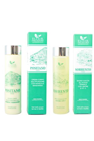 Shower gel and body cream set with thermal water  Elisir Del Mare | 20000046 | DUO BODYPOSITANO SORRENTO