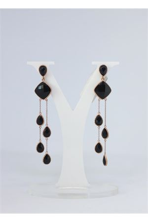 Black and gold pendant earrings  Estrosia | 48 | AB 03QUARZO BLACK
