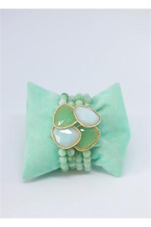 Bracciale alto con perle verdi Estrosia | 36 | BRAC QUARZOTORMALINA