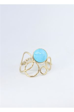 Rigid bracelet with light blue stone  Estrosia | 36 | BRACC 5.6TURCHESE BRONZO
