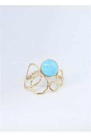 Bracciale rigido don pietra azzurra Estrosia | 36 | BRACC 5.6TURCHESE BRONZO
