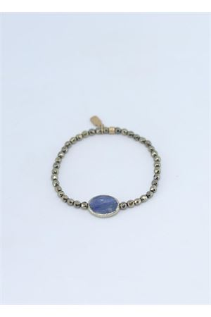 Bracciale elastico in argento con pietra blu Estrosia | 36 | BRD 8.11PIRITE