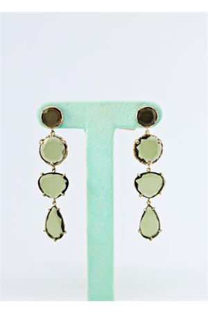 Green pendant earrings Estrosia | 48 | ORD 13.3VERDE IDRO
