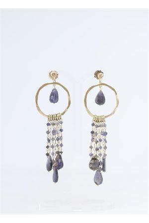 Orecchini pendenti in argento e tormalina lilla Estrosia | 48 | OREC TORMALINA ARGENTOTORMALINA ARGENTO