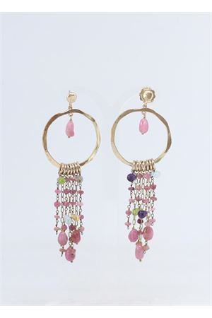 Silver and tourmaline stones earrings  Estrosia | 48 | ORECCHINO 1.5TORMALINA