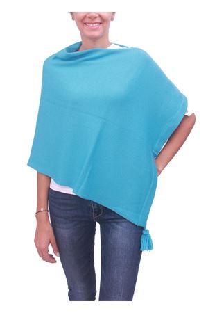 Mantella da donna in lana celeste La Bottega delle Idee | 52 | PBWOOLA15CELESTE