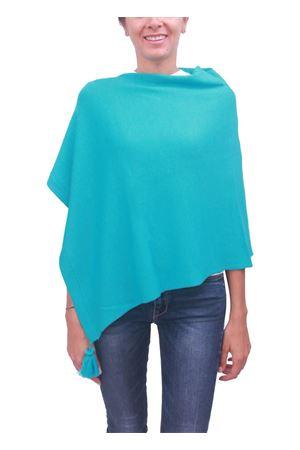 Poncho mantella in lana turchese La Bottega delle Idee | 52 | PBWOOLA17TURCHESE
