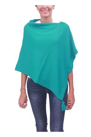 Poncho mantella in lana verde acqua La Bottega delle Idee | 52 | PBWOOLA19VERDE