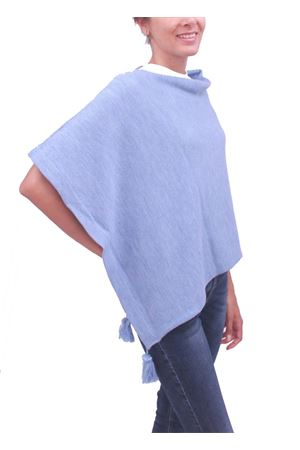 Lady light blue cloak La Bottega delle Idee | 52 | PBWOOLB23AZZURRO