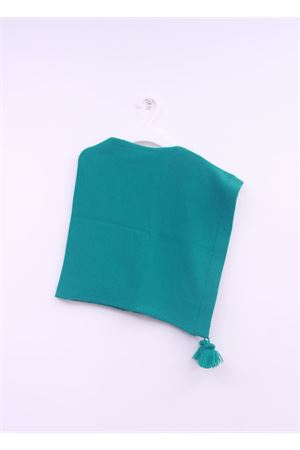 Poncho verde in lana da bambina La Bottega delle Idee | 52 | PONCHOGRA19VERDE