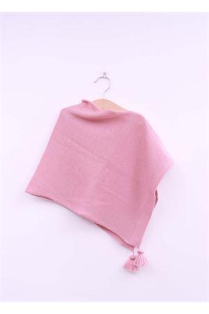 Poncho da bambina in lana rosa La Bottega delle Idee | 52 | PONCHOGRE55ROSA
