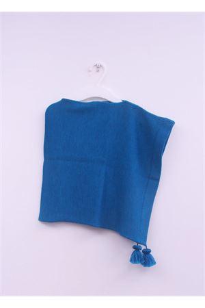 Poncho da neonata in pura lana petrolio La Bottega delle Idee | 52 | PONCHONA11PETROLIO