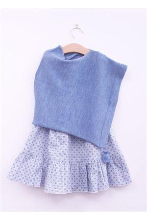 Poncho per neonata La Bottega delle Idee | 52 | PONCHONA15CELESTE