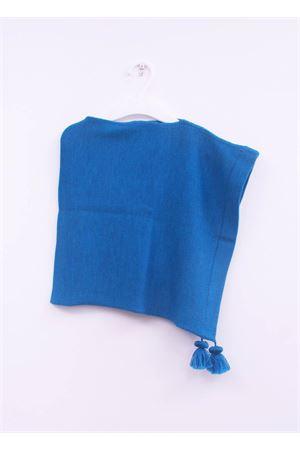 Poncho in lana azzurra per neonata La Bottega delle Idee | 52 | PONCHONB23AZZURRO