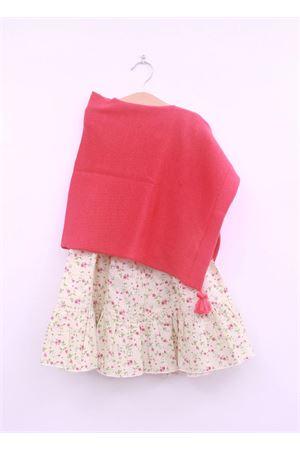 Poncho in lana color fragola per neonata La Bottega delle Idee | 52 | PONCHONE56ROSSO