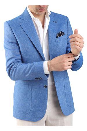 Giacca elegante in lino azzurro Scacco Matto | 3 | GIACCA LINOMARE AZZURRO