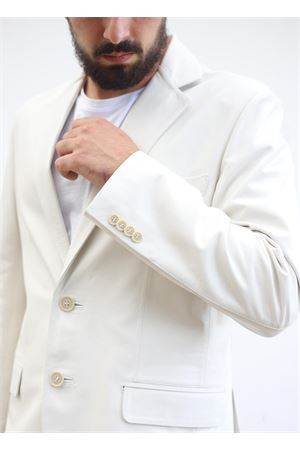 White leather jacket for man  Scacco Matto | 3 | GIACCA NAPPACREMA