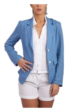 Blazer sartoriale in puro lino azzurro Scacco Matto | 3 | GIACCHINA LINOAZZURRO