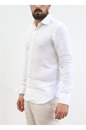 White linen shirt for man  Scacco Matto | 6 | OPERATABIANCO