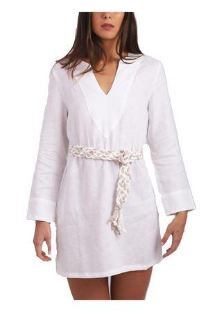 White linen tunic Scacco Matto | 5032233 | TUNICA CORTACAPRI