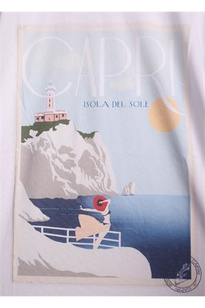 Lighthouse print cotton t-shirt  Aram Capri | 8 | FAROLIDOTSHIRTFAROLIDO