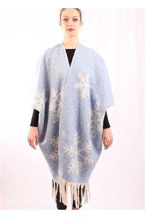 mantella in misto lana con fiocco di neve Aram Capri | 3 | FIOCCOAZZU