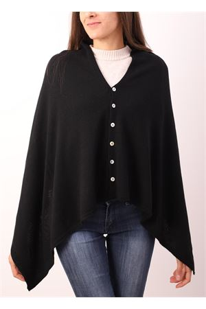 Black cape with buttons  Aram Capri | 52 | PHBLUNAVY