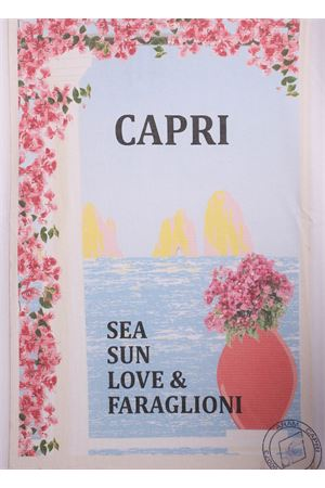 Capri view print cotton shirt  Aram Capri | 8 | SEASUNLOVETSHIRTSEASUNLOVE