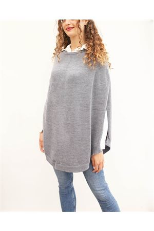 Grey wool poncho for woman  Art Tricot | 52 | PONCHOMAGLIAGRIGIO
