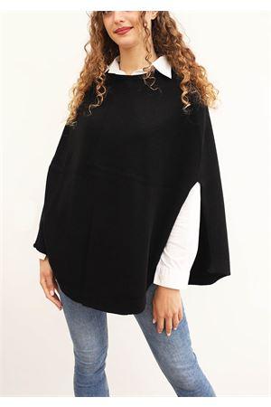 Black cape for woman in wool Art Tricot | 52 | PONCHOMAGLIANERO