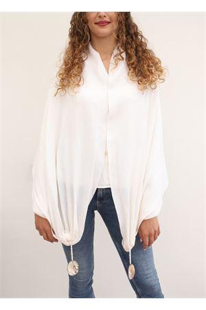 sciarpa bianca in lana con conchiglie Art Tricot | 77 | SCIARPACONCHIGLIEBIANCO