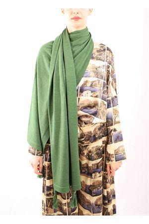 Green wool Capri stole  Art Tricot | 61 | STOLAPONPONVERDE