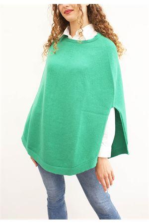 Green wool poncho for woman  Art Tricot | 52 | PONCHOMAGLIAVERDE