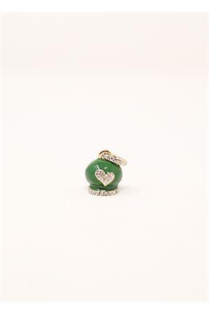 Green Capri bell charm  Bell   20000055   CAMPANELLASTRASSSMALTOVERDE